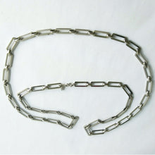 Load image into Gallery viewer, VINTAGE SILVER-TONE CHAIN LINK LAYERING NECKLACE