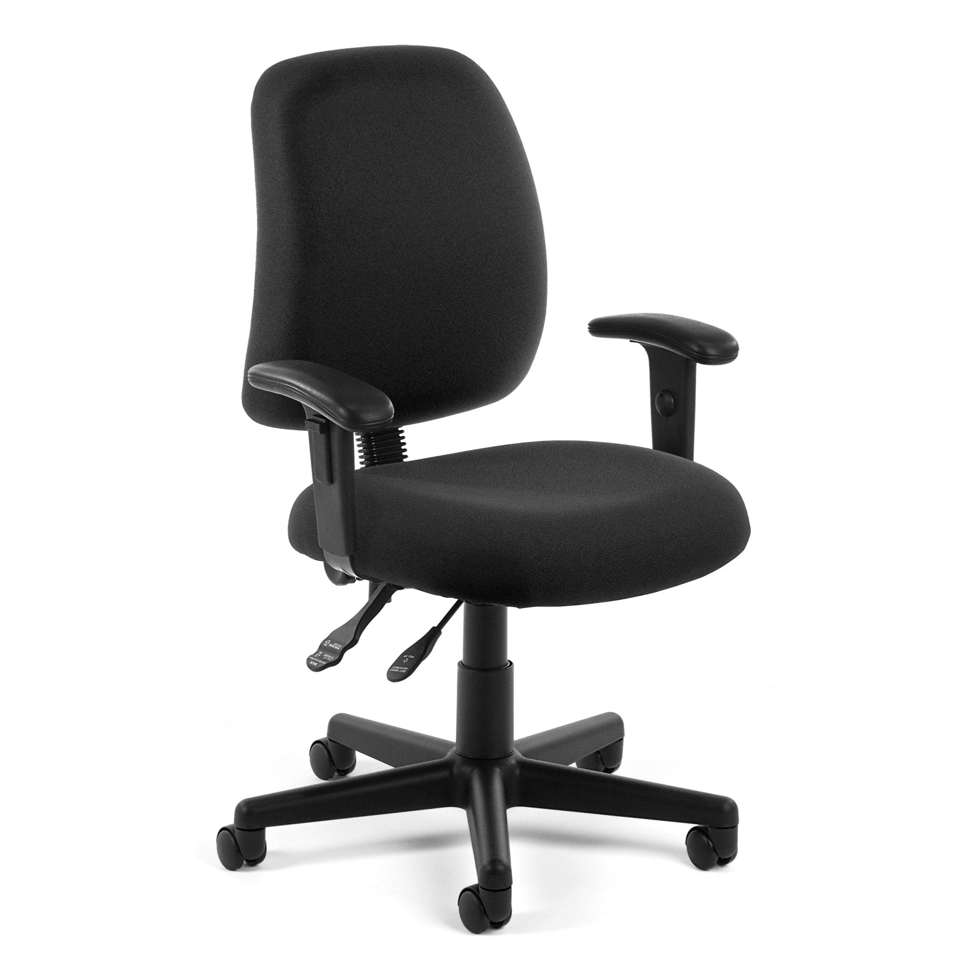 OFM Core Collection Posture Series Mid-Back Task Chair with Arms, in Black (118-2-AA-805)