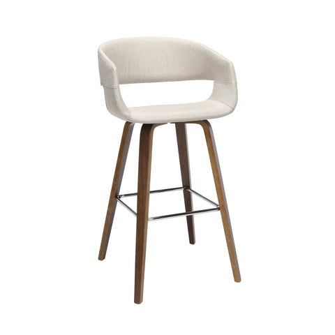 Beige Fabric Counter Stool 2PK