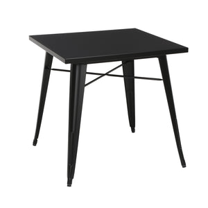 30 Square Black Metal Table