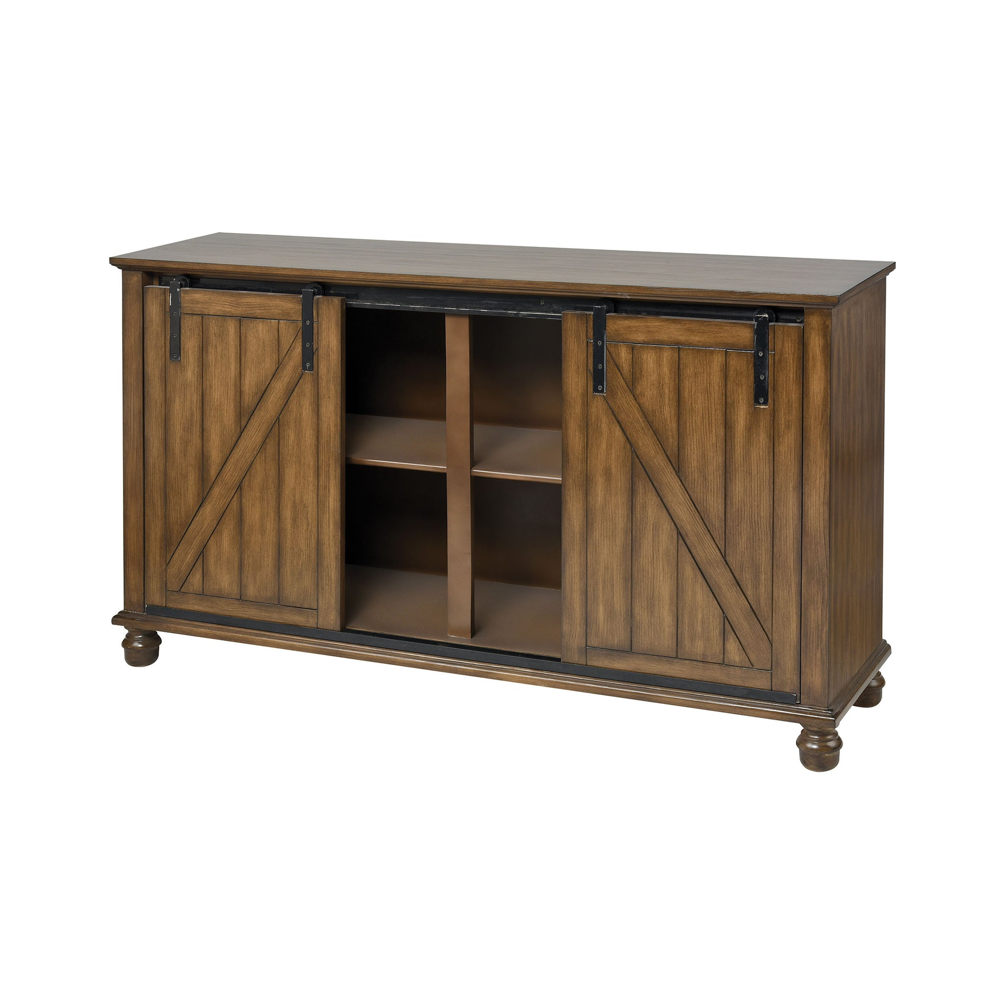 Garrick Farmhouse Cherry Wood Stain Cabinet