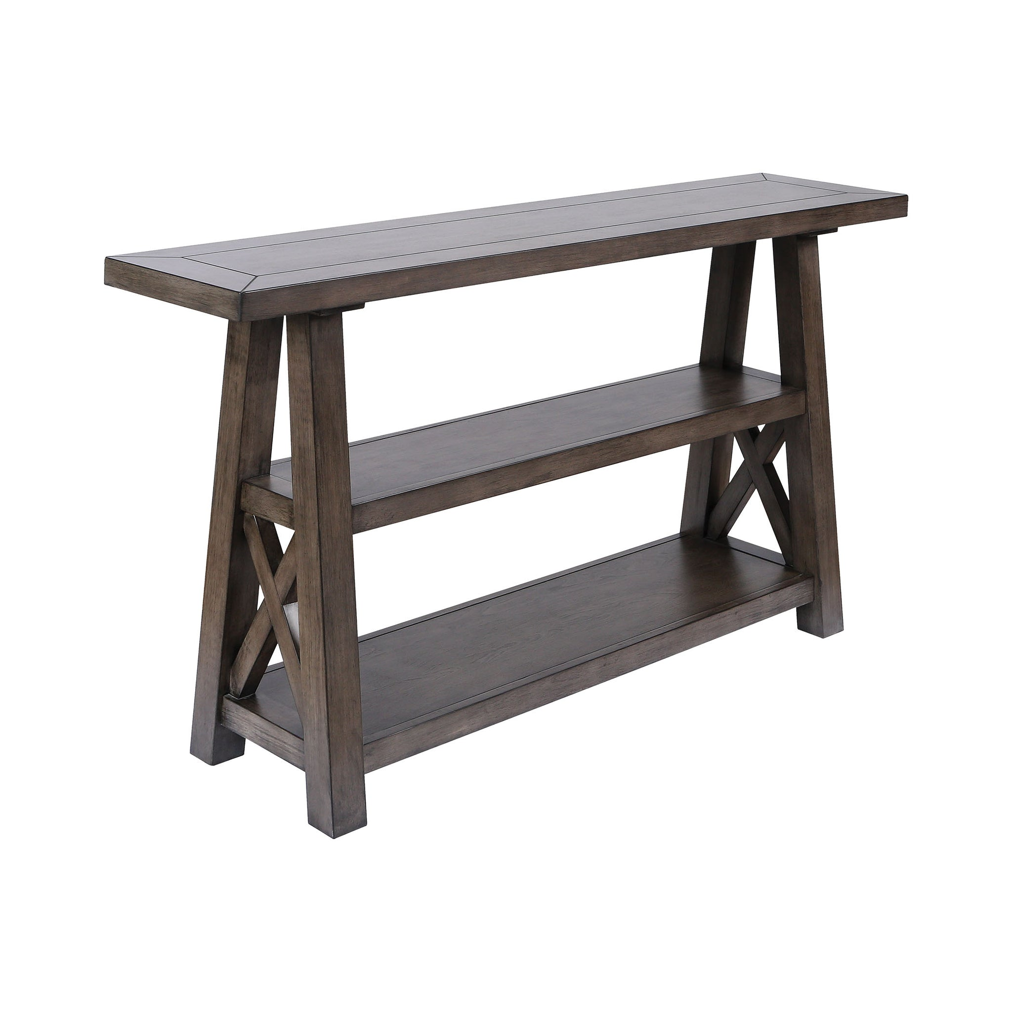 Manteo Farmhouse Grey Brown Stain Console Table
