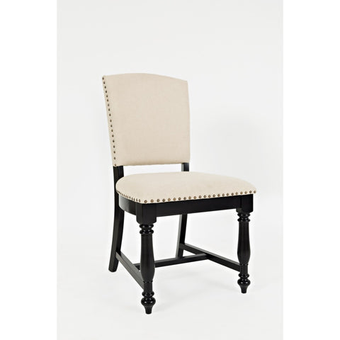 Castle Hill Upholstered Dining Chair - Antique Black Set of 2