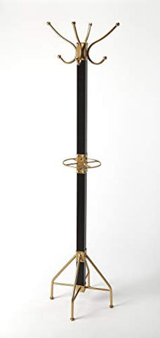 Butler Specialty Company Logan Square Loft Coat Rack - Black and Gold