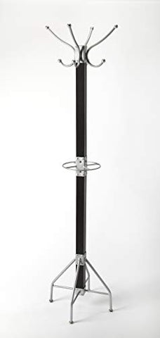 Butler Specialty Company Logan Square Loft Coat Rack - Black and Silver