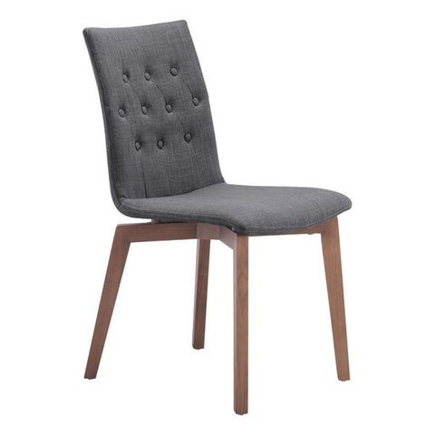 Dining Chair Graphite (Set of 2) - Polyblend Solid Wood