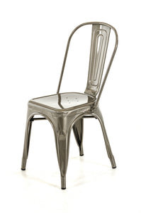 Modern Steel Side Chair (Set of 2)
