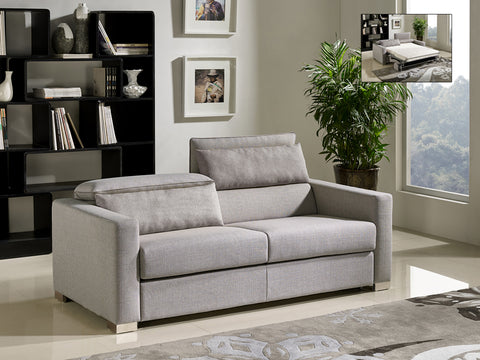 Modern Grey Fabric Sofa Bed