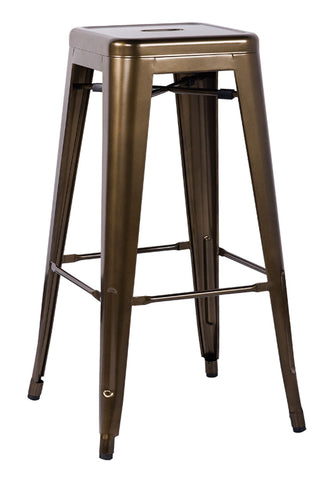 Bar Stool (Set-2), Bronze - Steel Bronze
