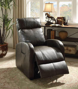 Recliner with Power Lift, Dark Gray PU - PU, Plywood, Foam, Metal  Dark Gray PU