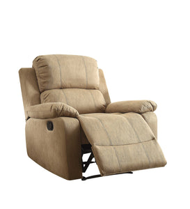 Recliner in Brown - Polished Microfiber Fabri Brown