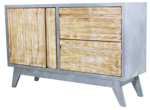 1-Door, 2-Drawer Sideboard - MDF, Wood