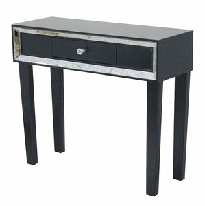 1-Drawer Console Table w/ Mirror Accents - Give your home decor an e,