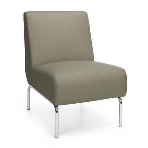 OFM Triumph Series Armless Modular Lounge Chair, In Taupe
