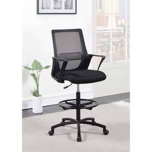 Fine Mesh Office Chair with Foot Rest, Black