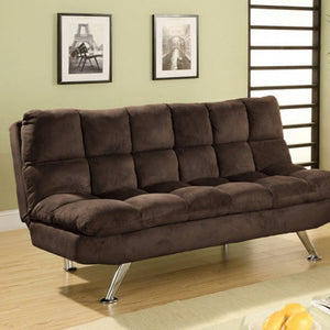 Microfiber Futon Sofa, Brown