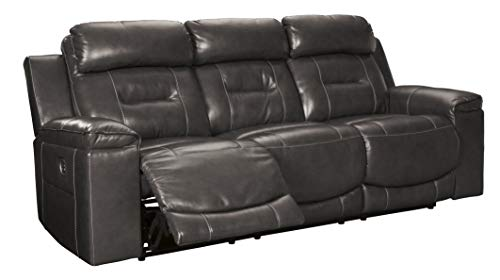 Signature Design by Ashley Pomellato Power Reclining Sofa with Adjustable Headrest Gray