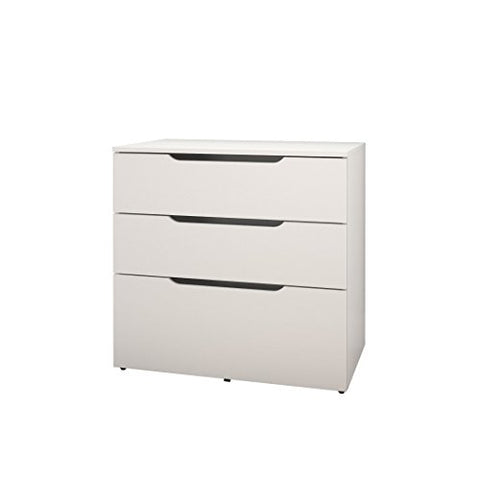 Arobas 3-Drawer Filing Cabinet from Nexera, White