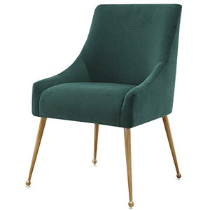 MEELANO Dining Chair, Forest Green
