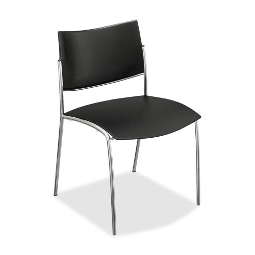 Mayline ESC2B Escalate Stacking Chair Plastic Back/Seat Black 4 Chairs/Carton