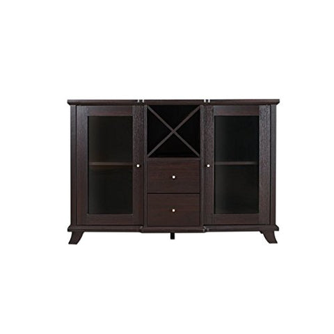 Furniture of America Anglex Wine Rack Buffet in Cappuccino