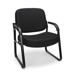big & tall armchair - black