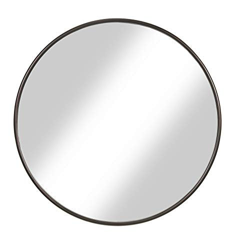 "Martin Svensson Home 30"" Oil Rubbed Bronze Framed Round Wall Mirror, Diameter"