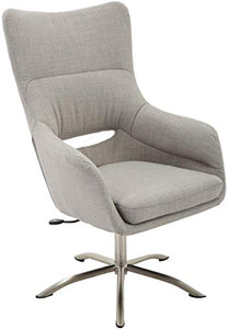 Hanover Carlton Wingback Stationary Taupe and Chrome base, Office Chair