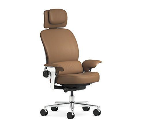 Steelcase Leap WorkLounge Office Desk Chair Elmosoft Chamois Leather with Hard Floor Casters