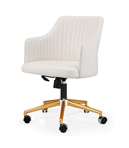 MEELANO M-64 Office Chair Gold/White