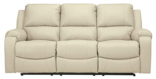 Signature Design by Ashley Rackingburg Reclining Power Sofa Vanilla