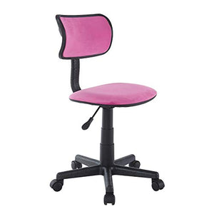 Urban Shop WK657998 Crushed Velvet Swivel Task Chair, Pink