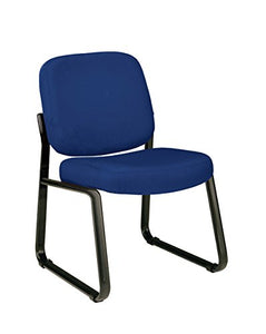 armless reception chair-navy
