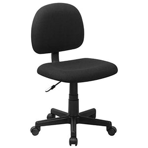 Flash Furniture Mid-Back Black Fabric Swivel Task Office Chair