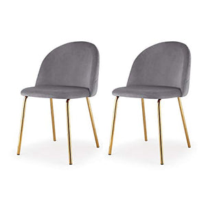 MEELANO Dining Chair One Size Gold/Grey