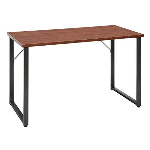 ofm essentials collection modern 48 o-frame computer desk, in walnut