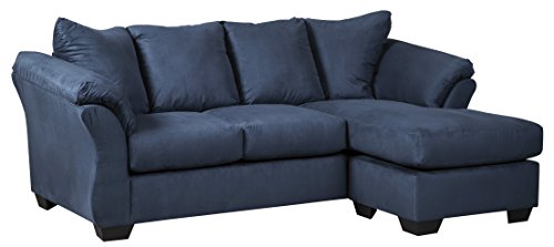 Signature Design by Ashley Darcy - Contemporary Sofa Chaise, Blue