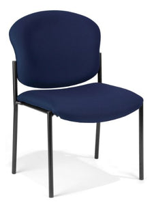 deluxe armless stack chair - navy fabric