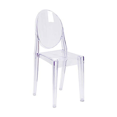 Offex Ghost Side Chair in Transparent Crystal