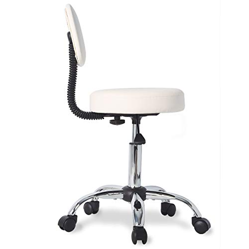 Stool Chair Rolling Adjustable Swivel Office Desk Chair With Back And