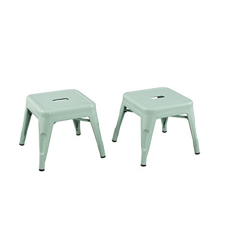 Kids Stool by Reservation Seating 2 PK STOOL MINT GREEN