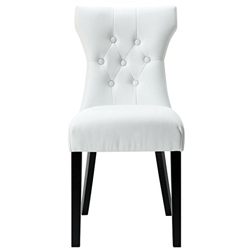 Plutus Brands Dining Vinyl Side Chair White