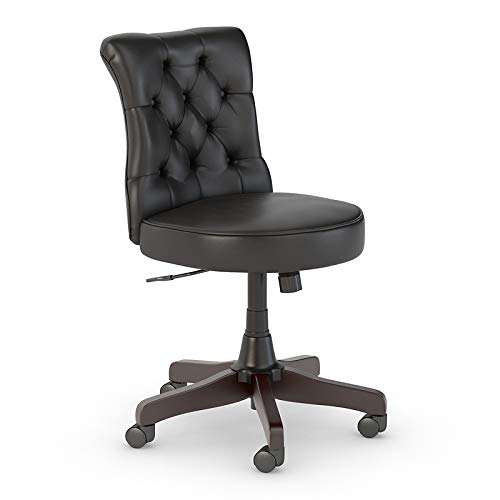 Bush Business Furniture Arden Lane Mid Back Tufted Office Chair, Black Leather