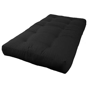 "Blazing Needles Renewal 8"" Twill Futon Mattress, Twin, Black"