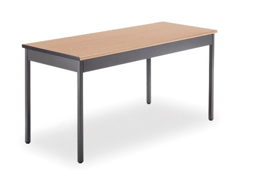 "OFM UT2460-MPL Utility Table, 24"" x 60"", Maple"