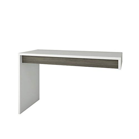 Nexera Chrono Reversible , Bark Grey & White Desk Panel - not stand alone,