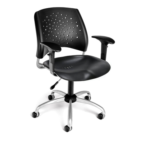 Star Swivel Chair - Blk with Arms