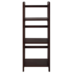 "3-Shelf Folding Bookcase 14"" Wide-Walnut"