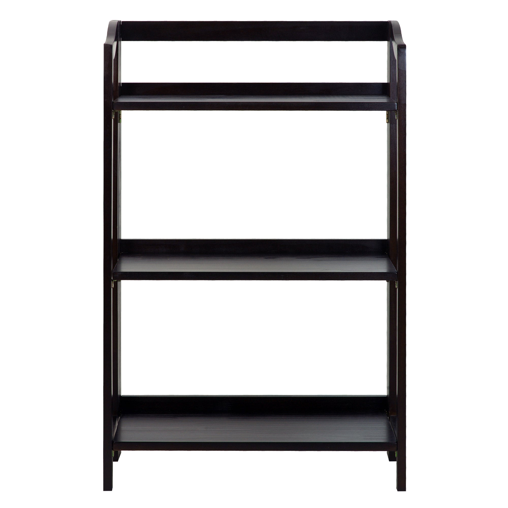 Stratford 3-Shelf Folding Bookcase-Espresso