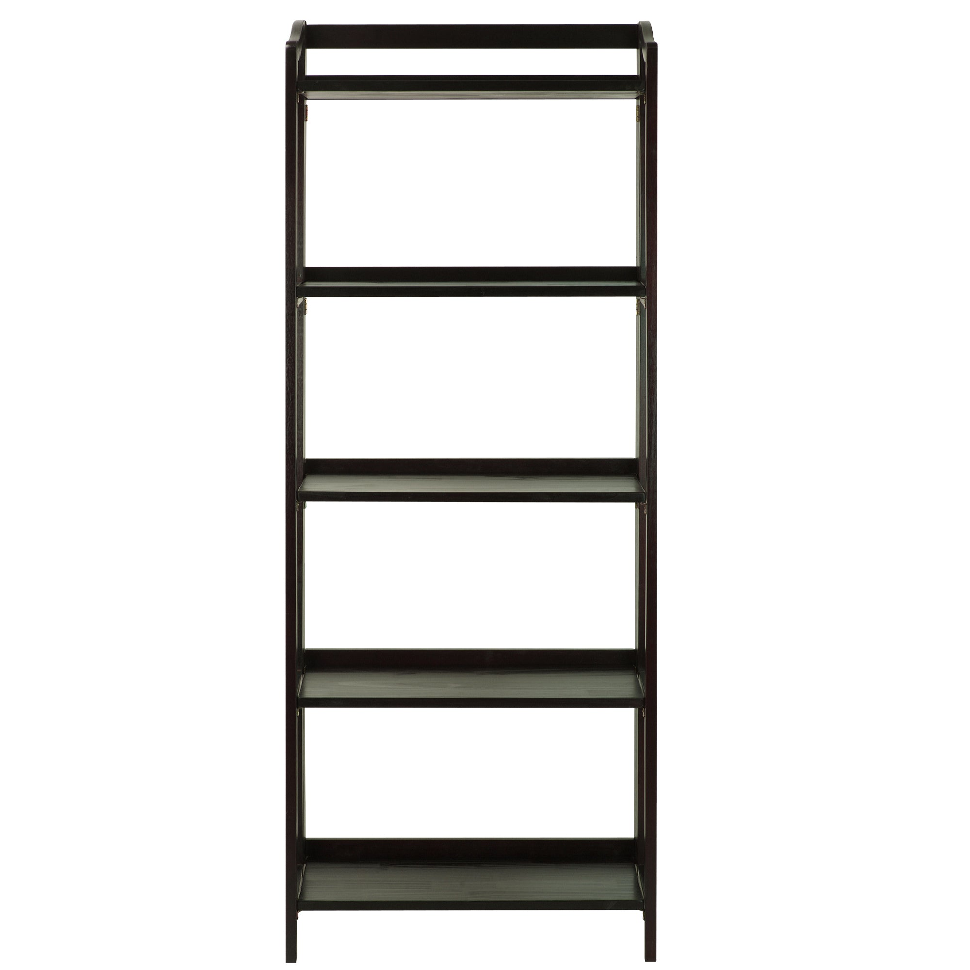Stratford 5-Shelf Folding Bookcase-Espresso